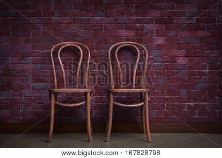 Two chairs in room design interior