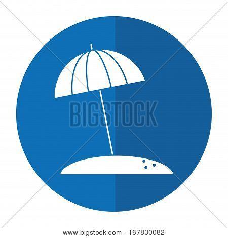 beach umbrella parasol sun vacation shadow vector illustration eps 10