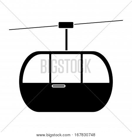 silhouette sky cable car transport mountain vector illustration eps 10