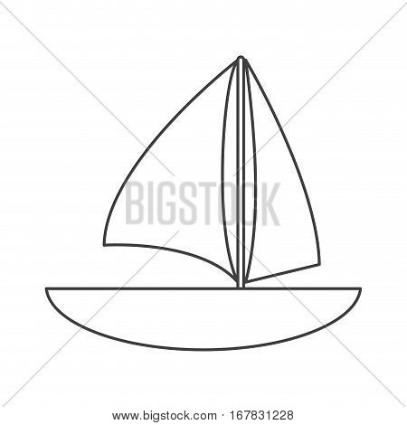 sailboat navigation water recreation thin line vector illustration eps 10