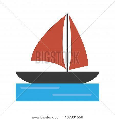 sailboat navigation water recreation vector illustration eps 10