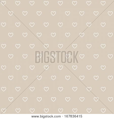 Seamless white hearts, Valentine's day card