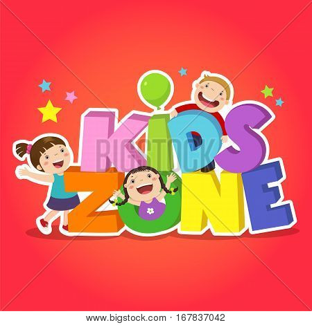 Kids zone banner design. Children playground area
