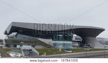 MUNICH - JANUARY 30: BMW Welt building in Munich Germany