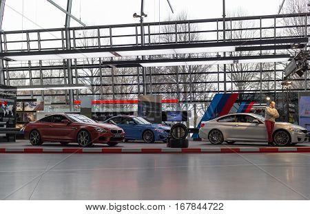 MUNICH - JANUARY 30: BMW M5 - Saloon model in BMW Welt Munich Germany