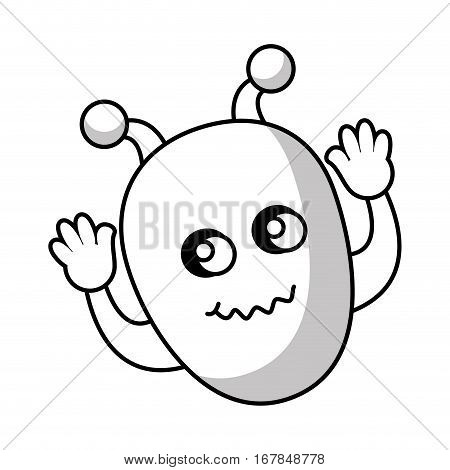 martian character comic icon vector illustration design