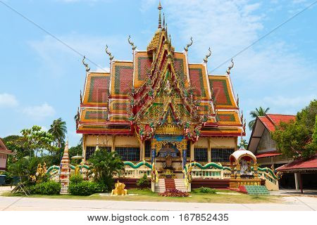 Scenic View Of Buddhist Temple Building