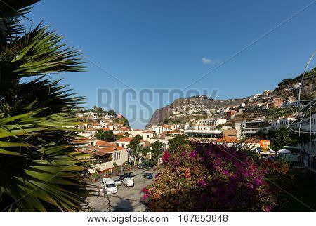 MADEIRA, PORTUGAL - SEPTEMBER 5, 2016: Camara de Lobos - traditional fishing village situated five kilometres from Funchal on Madeira. Portugal