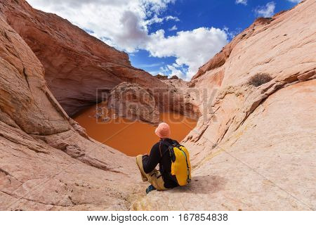 Unusual natural formation Cosmic Ashtray in Grand Staircase-Escalante National Monument, Utah, United States