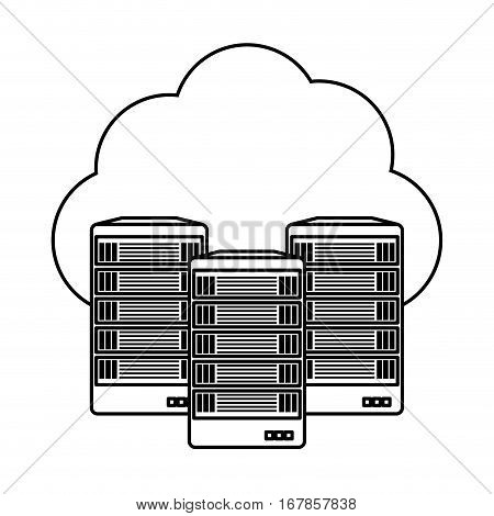 web hosting server banner icon, vector illustration design