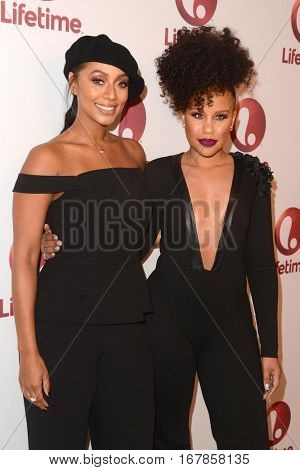LOS ANGELES - JAN 23:  Keri Hilson, Kellee Stewert at the