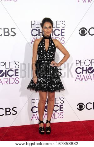 LOS ANGELES - JAN 18:  Susannah Fielding at the People's Choice Awards 2017 at Microsoft Theater on January 18, 2017 in Los Angeles, CA