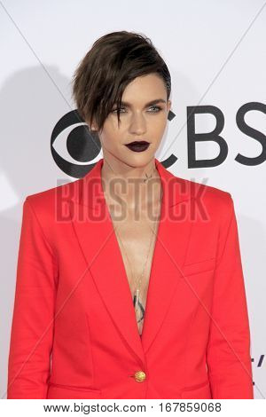 LOS ANGELES - JAN 18:  Ruby Rose at the People's Choice Awards 2017 at Microsoft Theater on January 18, 2017 in Los Angeles, CA