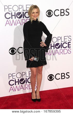 LOS ANGELES - JAN 18:  Emily Wickersham at the People's Choice Awards 2017 at Microsoft Theater on January 18, 2017 in Los Angeles, CA