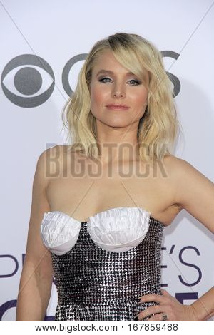 LOS ANGELES - JAN 18:  Kristen Bell at the People's Choice Awards 2017 at Microsoft Theater on January 18, 2017 in Los Angeles, CA