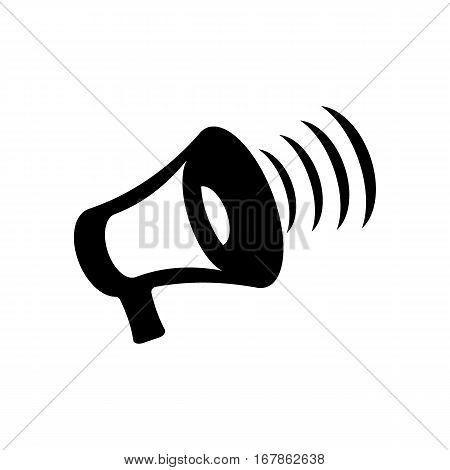 Megaphone icon vector, bullhorn solid illustration, pictogram isolated on white