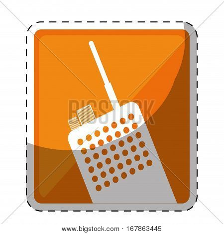 walkie talkie or radio two tone button icon image vector illustration design