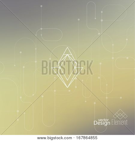 Abstract neat Blurred Background. Hipster Geometric shape, line and dot. Modern Signs, Label. For cover book, brochure, flyer, poster, magazine, cd, website, app mobile annual report T-shirt logo