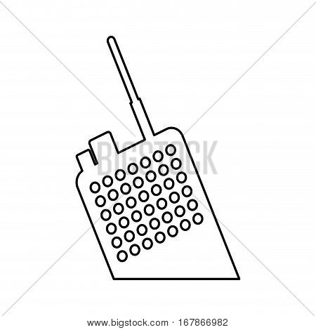 walkie talkie radio icon image vector illustration design