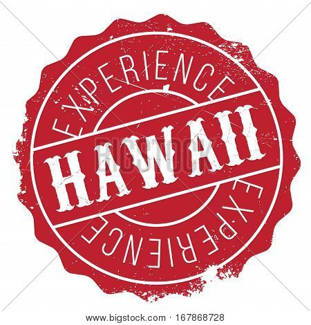 Hawaii stamp. Grunge design with dust scratches. Effects can be easily removed for a clean, crisp look. Color is easily changed.