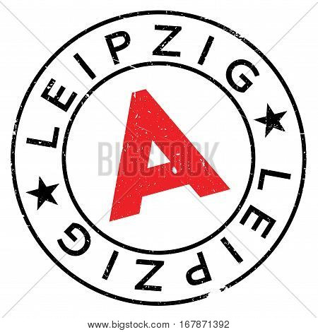 Leipzig stamp. Grunge design with dust scratches. Effects can be easily removed for a clean, crisp look. Color is easily changed.