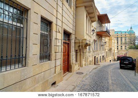 Kicik Gala Street In Old City, Icheri Sheher. Baku