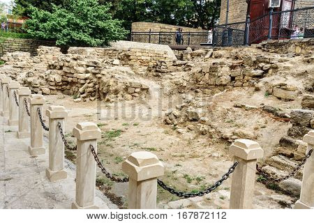 Remains Of The Church Of St Batholomew In Old City, Icheri Sheher. Baku
