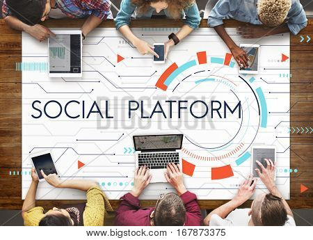Internet Social Platform Media Network Digital