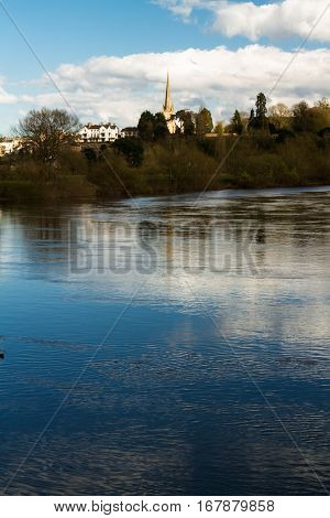 Ross On Wye, River In Foreground