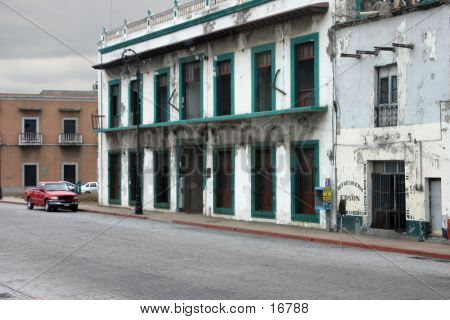 Delapitated Mexican Building
