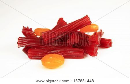 Candy And Sweets On A White Background