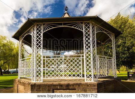 Well maintained UK bandstand in Chepstow, UK