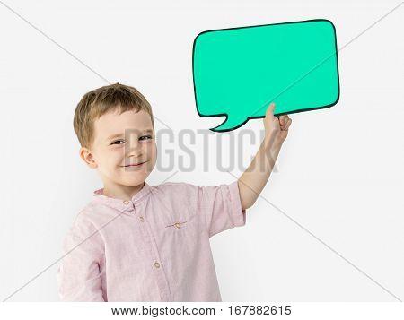 Little Boy Chat box Studio Portrait