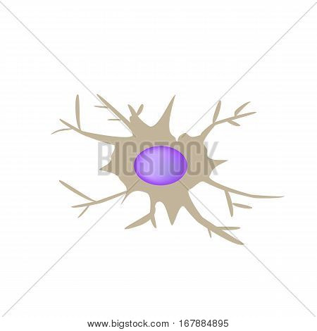 Dendritic cell immunity. Infographics. Vector illustration on isolated background.