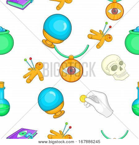 Tricks pattern. Cartoon illustration of tricks vector pattern for web