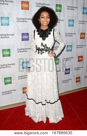 LOS ANGELES - JAN 19:  Yara Shahidi at the 2017 Artios Awards at Beverly Hilton Hotel on January 19, 2017 in Beverly Hills, CA
