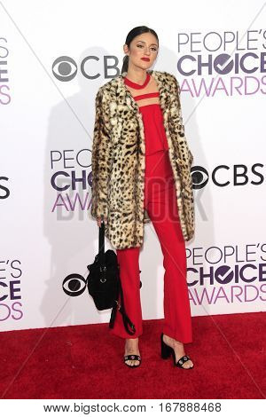 LOS ANGELES - JAN 18:  Caroline D'Amore at the People's Choice Awards 2017 at Microsoft Theater on January 18, 2017 in Los Angeles, CA