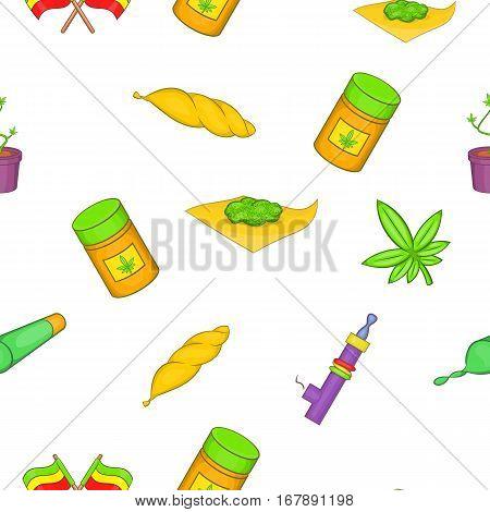 Drug pattern. Cartoon illustration of drug vector pattern for web