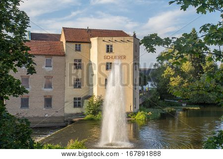 Schuierer Mill, Schuierer Mühle, an old Mill in Schwandorf in Bavaria, next to the river Naab