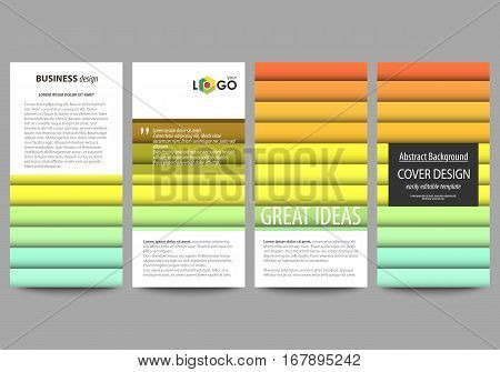 Flyers set, modern banners. Business templates. Cover design template, easy editable abstract flat layouts, vector illustration. Bright color rectangles, colorful design, overlapping geometric rectangular shapes forming abstract beautiful background