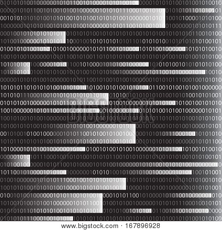 Background in a matrix style. Falling random numbers. Computer Code. Vector Illustration. Eps10.