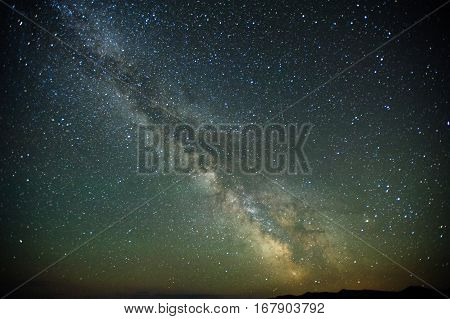 Milky way stars at night, the sky gorgeous landscape
