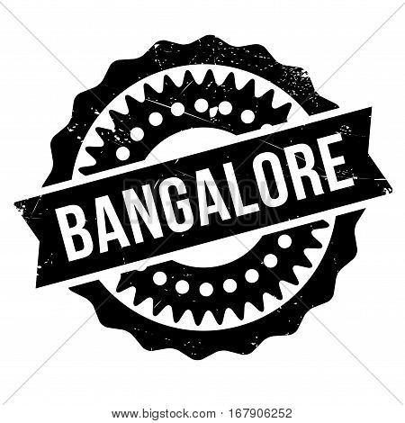 Bangalore stamp. Grunge design with dust scratches. Effects can be easily removed for a clean, crisp look. Color is easily changed.