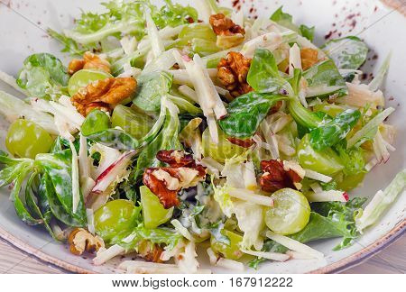 Waldorf Salad With Apples, Celery And Walnuts