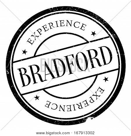 Bradford stamp. Grunge design with dust scratches. Effects can be easily removed for a clean, crisp look. Color is easily changed.