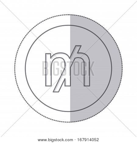 middle shadow monochrome circle with currency symbol of mill vector illustration