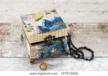 Blue Trinket Box