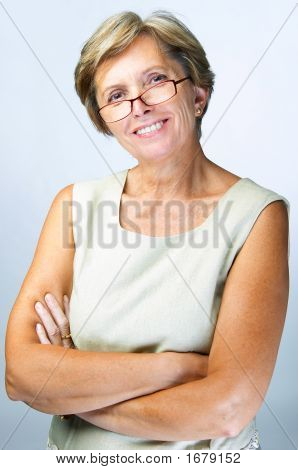 Confident Mid Adult Woman