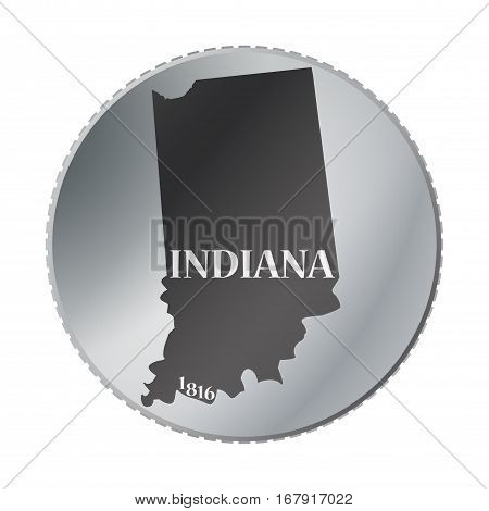 Indiana State Coin