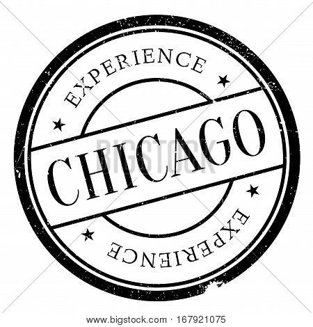 Chicago stamp. Grunge design with dust scratches. Effects can be easily removed for a clean, crisp look. Color is easily changed.